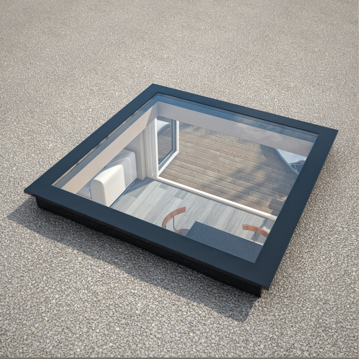 Aluminium Roof Lantern Skylight And Flat Roof Skylight: StepGlass Flat Rooflight / Skylight / Lantern For Flat Roofs