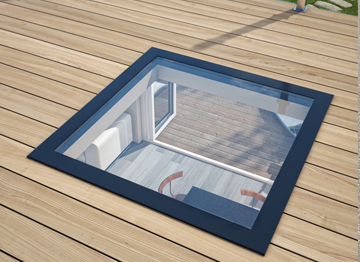 Stepglass Walk On Glass Flat Rooflight Skylight